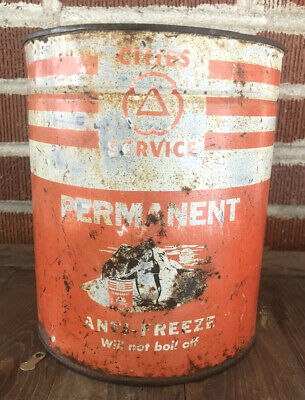 Vtg 1950s Cities Service Anti Freeze 1 Gallon Oil Can Tin Penguin Graphic Ebay