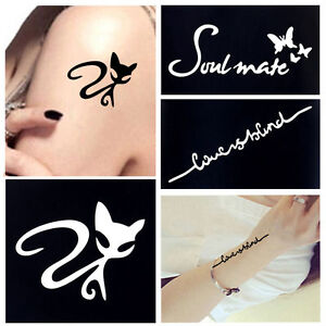 Small Henna Tattoo Stencil For Beauty Women Body Leg Hand Art