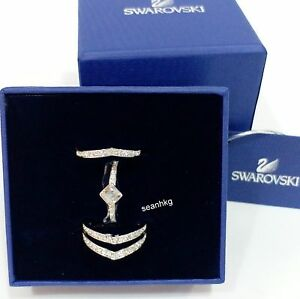 5abb94210 Swarovski Alpha Ring, Set of 3 Rings Size: 6/52/S Crystal Authentic ...