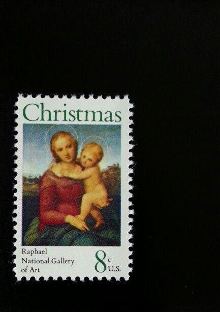 1973 8c Christmas, Raphael Madonna, National Gallery Sc