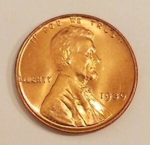 Nice bright wheat penny BU 1939 P Lincoln Cent