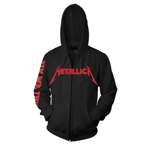 S Em All Giacca Lampo Zip Cappuccio Official U Con Uccidere Metallica Chiusura qIdOPXwI
