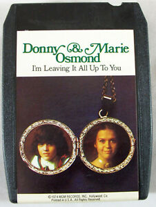 """Donny & Marie Osmond """"I'm Leaving It All Up To You"""" 1974 MGM 8-Track Tape Tested"""