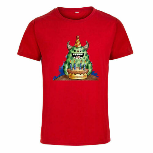 Alien Cartoon Happy Birthday Funny T-shirt Short Sleeve Casual Summer Tops Tee