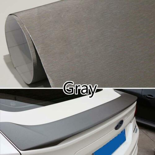 Brushed Vinyl Film Metallic Wrap Sticker Decal Bubble Free Air Release Hot #