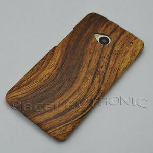 New-Brown-Wood-design-Hard-Case-cover-for-HTC-One-M7