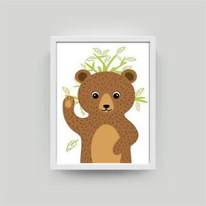 B r bild kunstdruck a4 kinderzimmer babyzimmer deko - Kunstdruck kinderzimmer ...