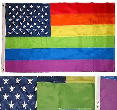 60x90cm Bunt Regenbogen Lgbt Flagge Peace Gay Lesbisch Parade Banner Deko US
