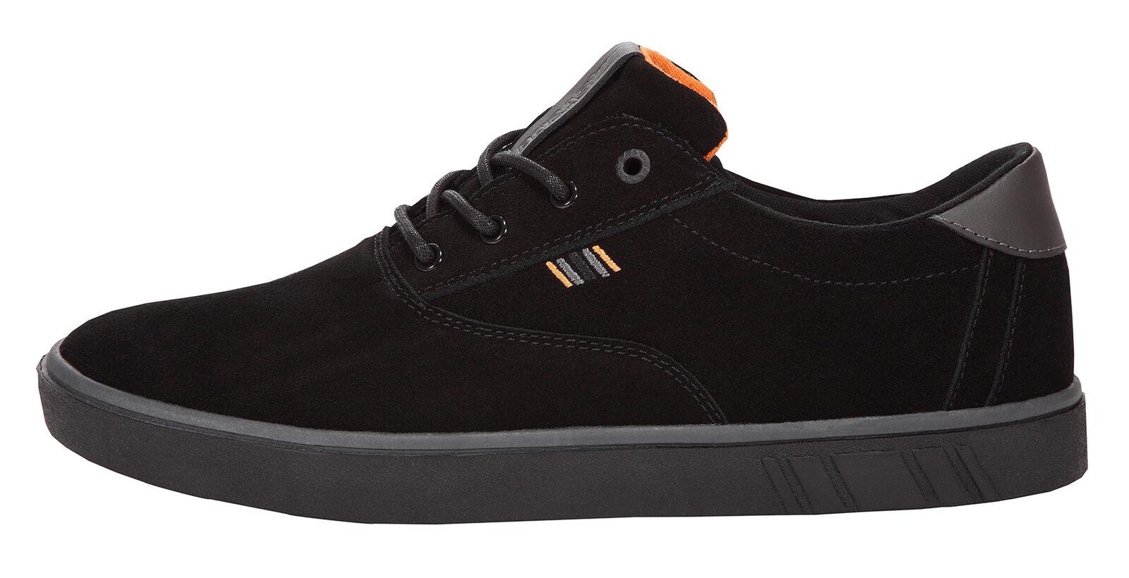 Boras Unisex Sports Turnschuhe  Suede  schwarz graphite Orange