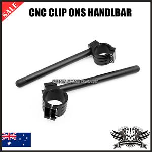 CNC Black Billet Clip on Handle Bar Suzuki GSXR 600//750 2004 2005 2006 2007 2008