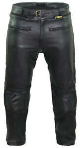 CE-Armoured-Motorbike-Motorcyle-100-Real-Leather-Cruiser-Touring-Trousers-Jeans
