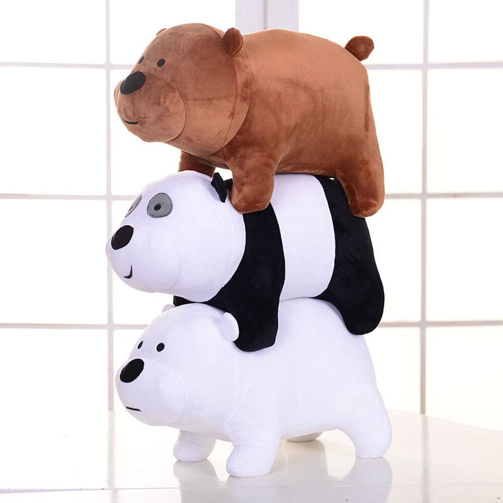 12x25cm We Bare Bears Plush Toy Grizzly Panda Ice Bear