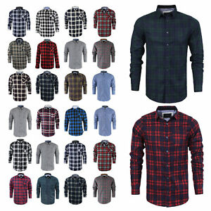 Mens-Long-Sleeve-Shirt-Brave-Soul-Brushed-Cotton-Flannel-Check-Lumberjack-S-XL