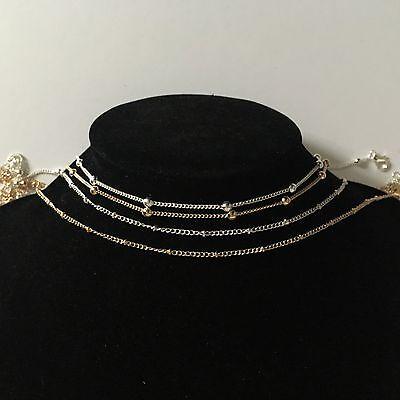 Fashion Simple Dainty Gold//Silver Choker Karma Double Necklace Jewellery Pendant