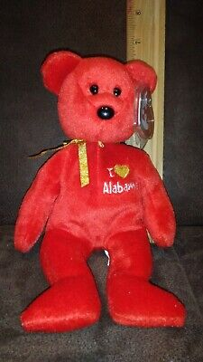 TY I Love Wisconsin the Bear BEANIE BABY MINT with MINT TAGS