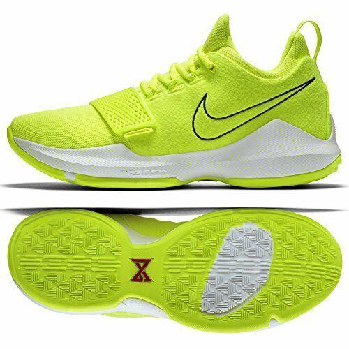 online retailer 416f9 9f86b Nike PG1 Paul George Tennis Ball 878627-700 Volt/White Men's Basketball  Shoes