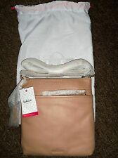 KIPLING KOTRAL SHOULDER/OVER THE BODY BAG IN PALE PEACH LEATHER