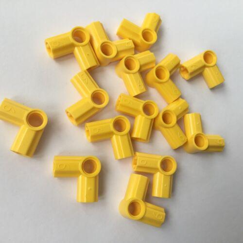 15 Lego Technic Verbinder Achs Pin Winkel 90 Grad Nr 6 gelb NEU 32014