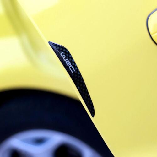 4pcs Black Anti-Scratch Carbon Fiber Car Door Edge Protection Guards Trims Strip