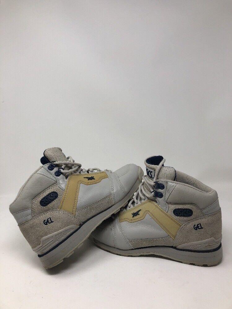 ASICS Vintage Damenschuhe Sz 6.5 Grau Leder Gel Hi Top Sneaker Schuhes Stiefel Comfort