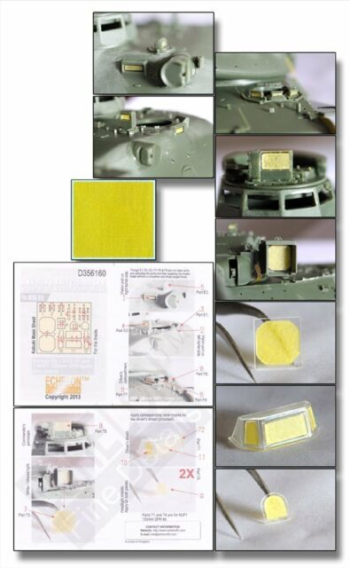 Echelon 1/35 #D356160 AMX-30B & AUF1 Vision Block & Panel Masks for Meng Model