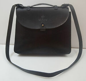 98be8bb2138e ... czech image is loading mulberry authentic black leather briefcase hand  held cross b5c95 4d972