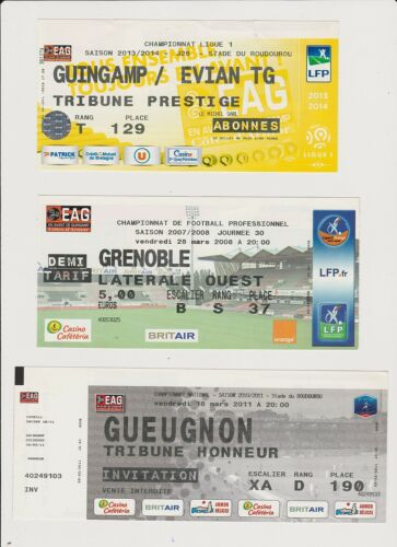Ticket collection EA Guingamp - Grenoble Foot 28/03/2008 Ligue 2