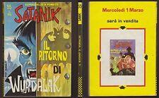 """SATANIK 55 IL RITORNO DI WURDALAK - 15/2/1967 """"OTTIMO+"""""""