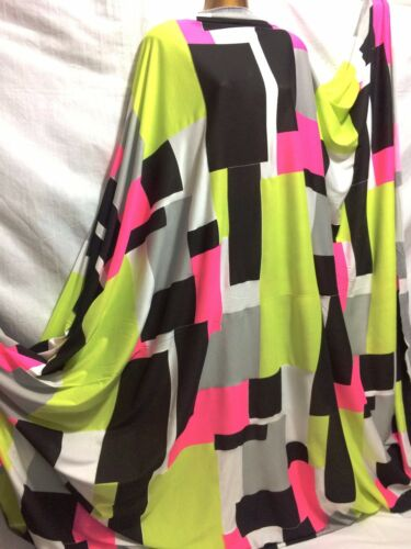 *NEW*Stretch Viscose Jersey Modern Geometric Prints Dress//Craft Fabric*FREE P/&P*