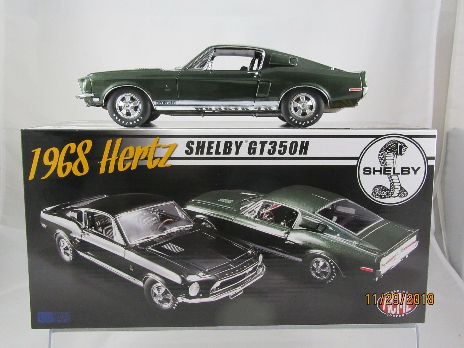 Acme 1968 Shelby GT350H Rent-A-Racer in Dark Green A1801825