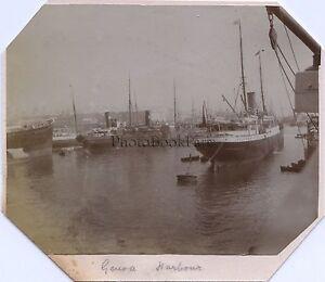 Genova Italia Foto Amateur Vintage Citrato Ca 1910
