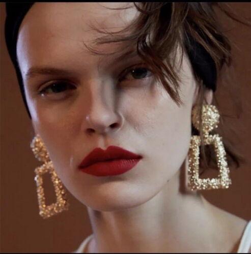 2019 Vintage Big Or Métallique Statement Dangle Boucles d/'Oreilles Pendantes pour Femme Fashion