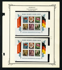 DDR-Germany-Stamps-144-6a-Marx