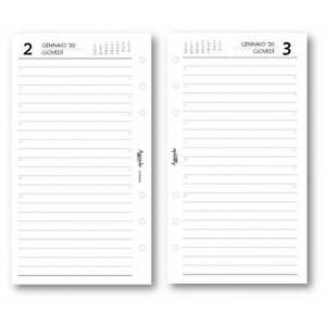 4 fori Ricambio agenda A4 ESSENTIAL 21x30 giornaliero forato 2020 agenda organizer