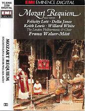 Mozart  Requiem K626 CASSETTE ALBUM Felicity Lott Della Jones Keith Lewis EMI
