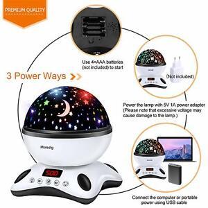 Moredig-Musique-Lampe-Projecteur-360-Rotation-avec-Control-Telecommande-amp-Timer