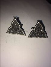 CELTIC TRIANGLE DR55 Pair of  Cufflinks Made From English Modern  Pewter