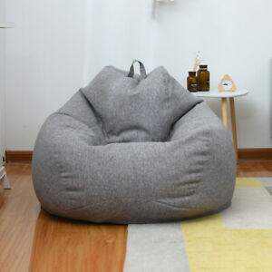 Sensational Details About Extra Large Bean Bag Chair Sofa Cover Indoor Outdoor Game Seat Bean Bag Adult Caraccident5 Cool Chair Designs And Ideas Caraccident5Info
