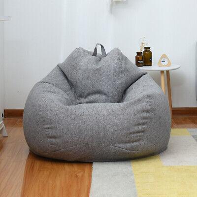 Strange Large Bean Bag Chair Sofa Cover Indoor Outdoor Game Seat Beanbag Adult Dark Grey Ebay Cjindustries Chair Design For Home Cjindustriesco