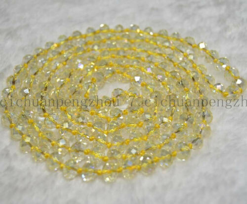 "Belle 5x8mm Multi-couleur AB cristal Gems Blotter Perles Collier 45/"" AAA"