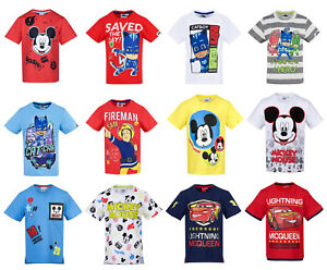 Boys-Kids-Official-Various-Character-Short-Sleeve-T-Tee-Shirt-Top-2-8-Years