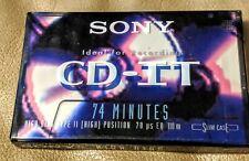 6 tape lot Sony 74 min Minute CD-IT Normal Bias Blank Cassette in Slide Case NEW