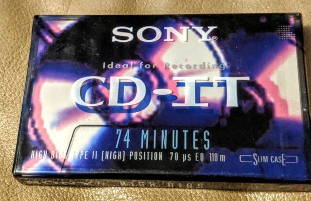 II      BLANK CASSETTE TAPE SEALED SONY  CDit  PRO     74       VS 1