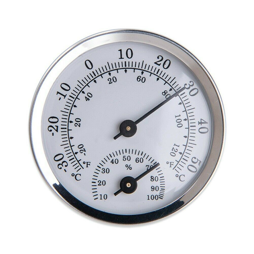 Wall Mounted Temperature Humidity Thermometer Gauge Hygrometer Room Tools New