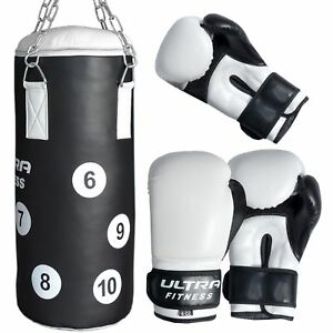 2pcs Boxing Gloves and Focus Pads Set Hook Jabs Mitts Punch Bag Gym Training MMA