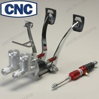 Cnc Pedal Assembly With Throttle Pedal With Round 3/4 Clutch And 3/4 Brake