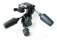 Professional 3-way pan tilt tripod head with 200PL 3157N QR plate for Manfrotto