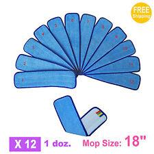 "1doz. 18"" SunnyCare #26182 Blue Microfiber Damp Room Mops Pad 12pcs"