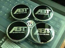 4x 60mm Aluminum ABT Sportsline Badge Emblem Logo Auto Car Wheel Center Hub Caps