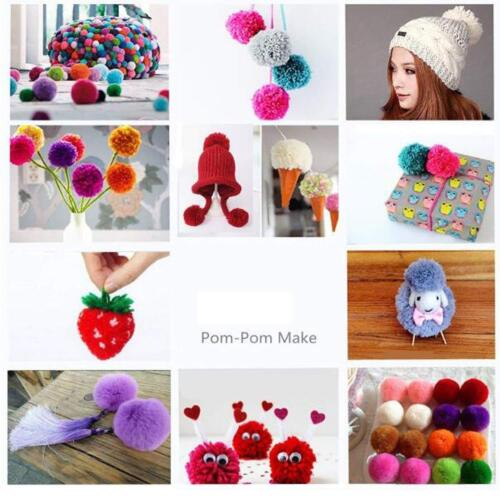 4 Sizes Pompom Maker Fluff Ball Weaver Needle Craft Knitting Wool Tool DIY